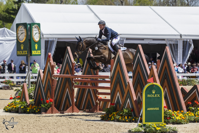 Michael Jung (GER)  and Fischerrocana FST in the Jumping Phase of the Rolex Kentucky Three-Day Event