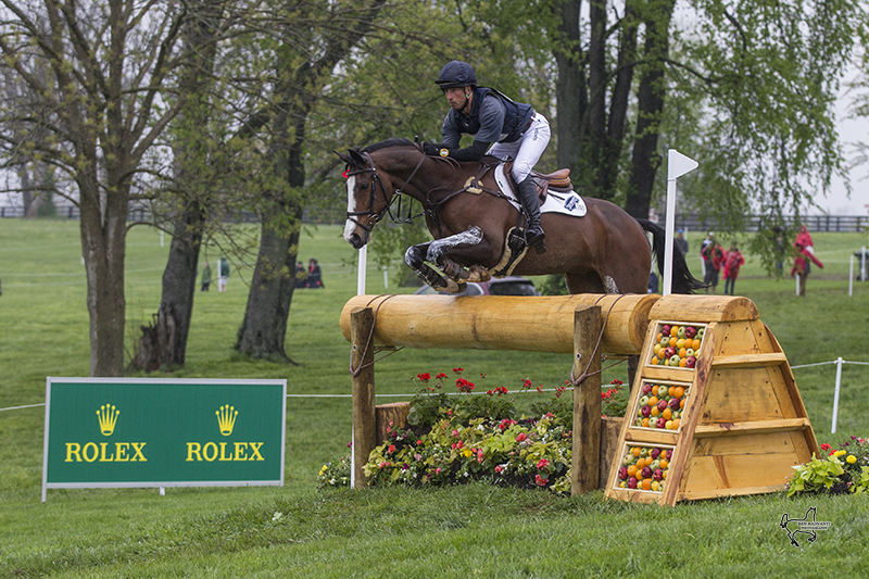 Tim Price of New Zealand, riding Wesko to the lead of the 2015 Rolex Kentucky Three-Day Event