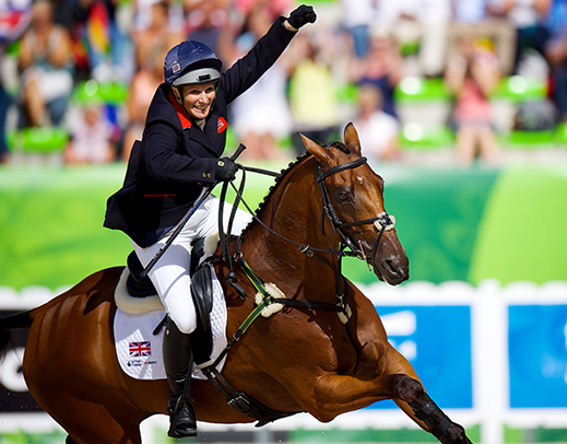 Zara Phillips (GBR)  High Kingdom - Team Silver WEG 2015 (c) Arndt Bronkhorst FEI