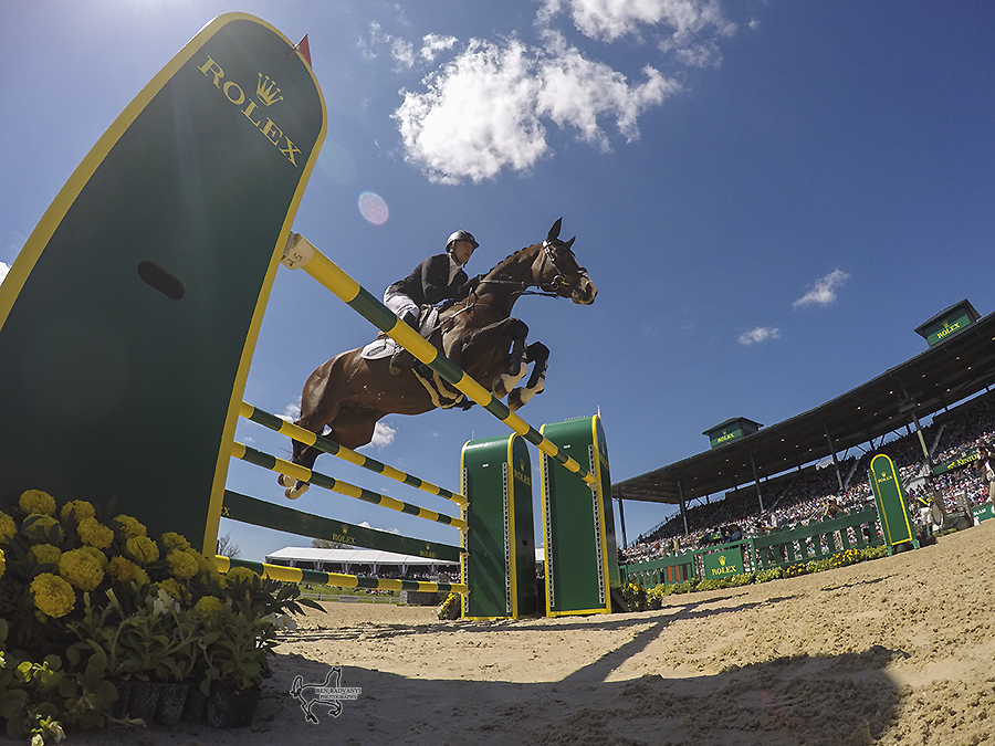 2015 RK3DE second-place finishers Tim Price (NZL) and WESKO during the Show-Jumping phase.