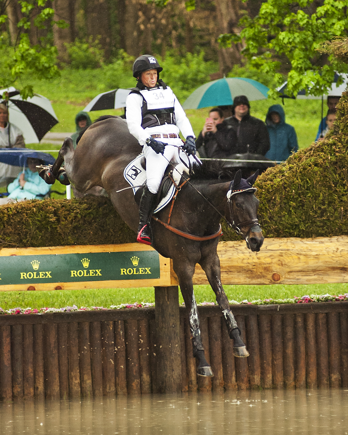 Michael Jung (GER) and Fischerrocana FST hold the lead going into the Show Jumping phase of the 2016 Rolex Kentucky Three-Day Event Presented by Land Rover (Photo by Michelle Dunn)